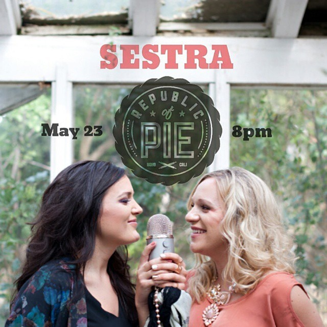 Come out to @republicofpie tomorrow night to hear the heartfelt sounds of @sestramusic! #livemusic #sestra #republicofpie #hollywood #indiemusic #singersongwriter