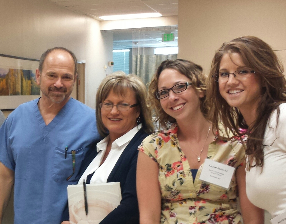 (Pictured): Members of the SCKMC specialty clinic team traveled to San Jose, CA recently to participate in a training seminar for the Apligraf wound treatment. (From left: Dr. Bruce Lerman, seminar presenter; Kathy Avery, LPN; Racquel Szabo, Physician Assistant for Dr. Tyson Blatchford)