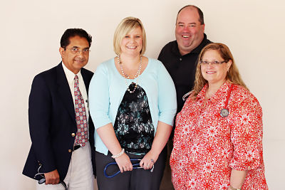 (From left) Dr. Kamran Shahzada, Internal Medicine; Angela Ziegler, Advanced Practice Registered Nurse; Dr. Eric Thomson, Family Medicine; and Dr. Rhonda Green, Family Medicine.