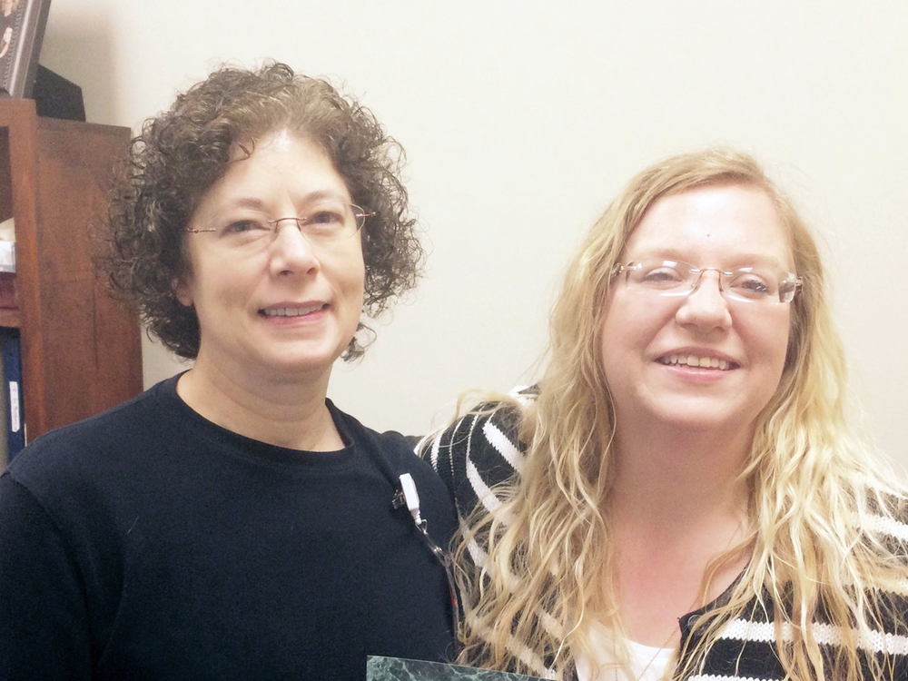 (Pictured): Patricia McMains (left) and Holly Harper recently completed certification programs that they believe will allow them to better assist the South Central Kansas Medical Center.