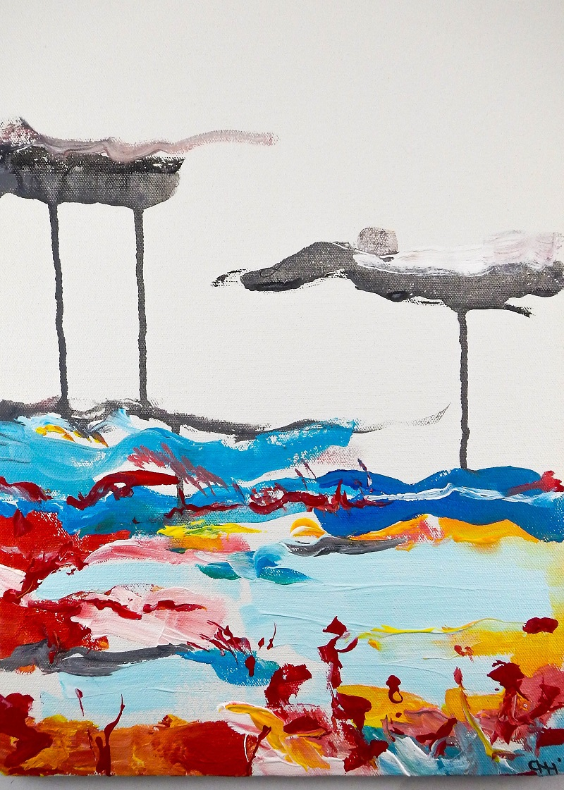 """Post Nepal Painting #1"", 12"" x 16"", acrylic on canvas.JPG"