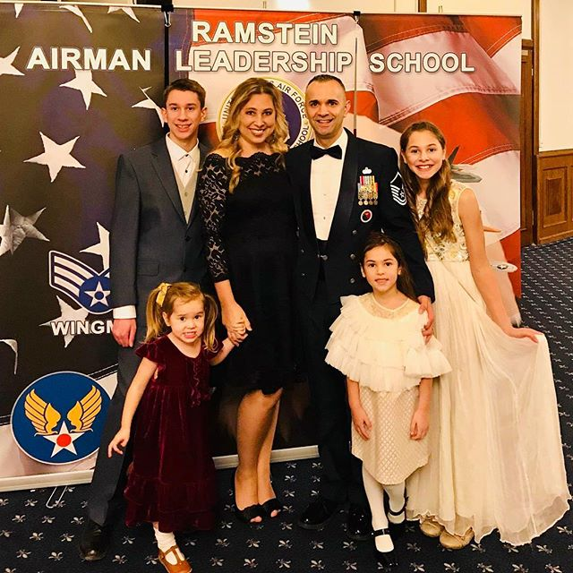 Celebrating my husband's last day as a commandant at Airman leadership school. ❤️🇺🇸❤️ And his last job in service. We still have a few months till retirement, but for now... a wonderful evening being part of his last graduation night for his students. 🇺🇸🎉 such a fun Christmas season!!!