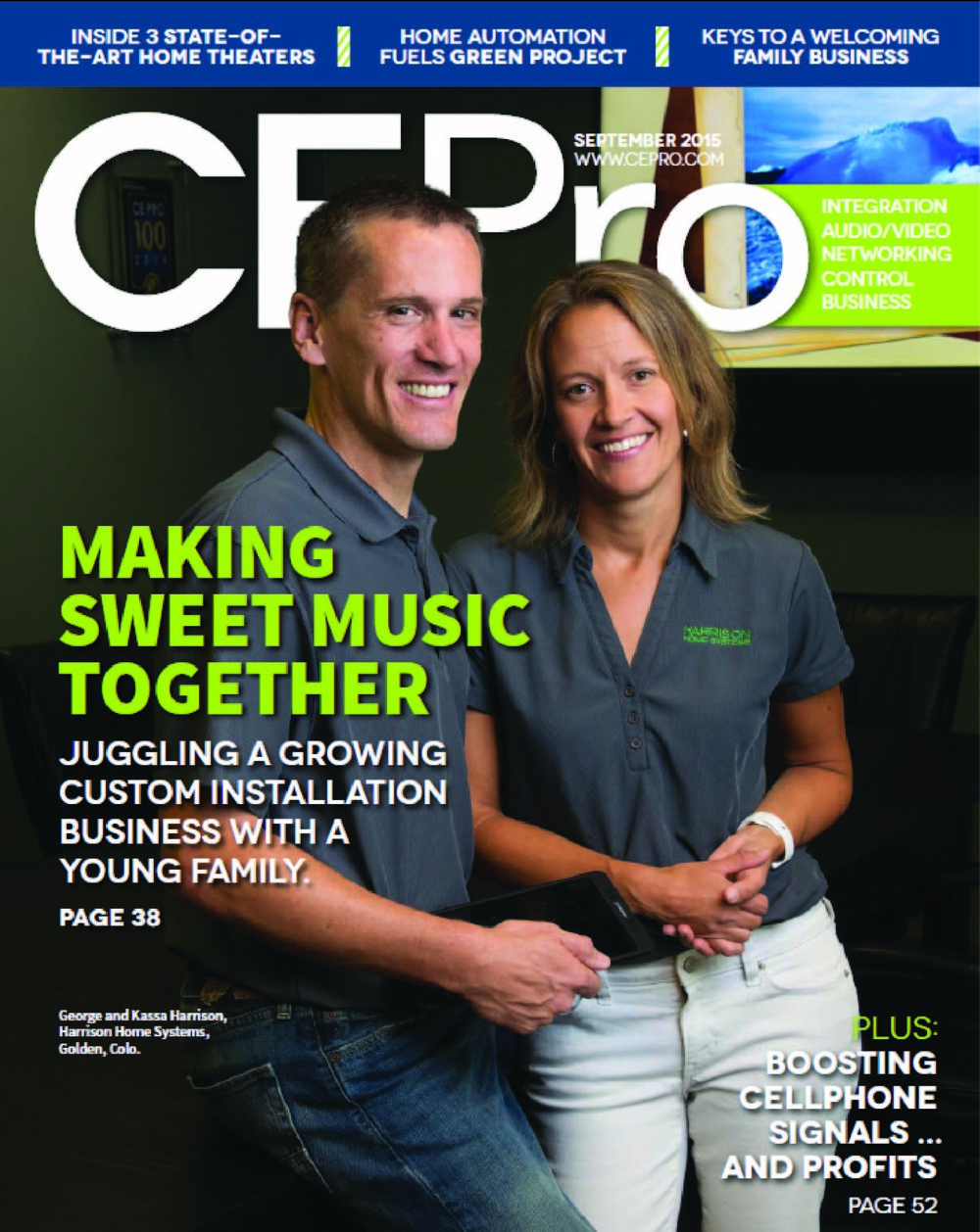 Harrison Home Systems honored with CE PRO Cover Story in 2015