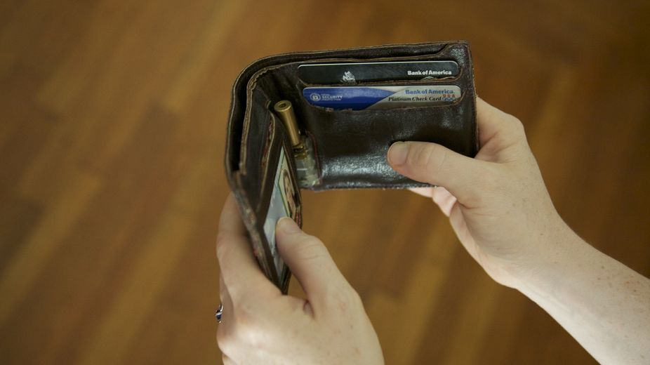 The Proverbial Wallet, created at the MIT Media Lab by David Rose and his team. The wallet has a variable strength hinge, connected wirelessly to your bank account. As the funds in your account dwindle, your wallet literally becomes harder to open. A clever solution to help people better understand their spending in a very visceral way.