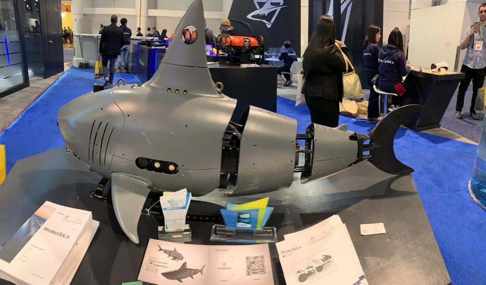 The RoboSea Robo-Shark, designed for surveillance