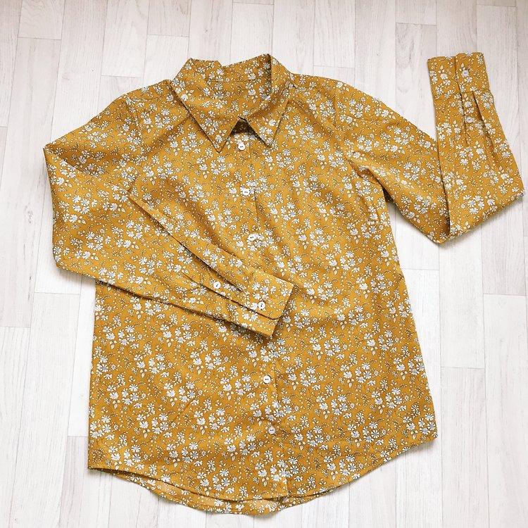 Iris  Ladies Liberty Print Shirt Blouse — The Handmade Clothing Company cc9c7a9f3e78