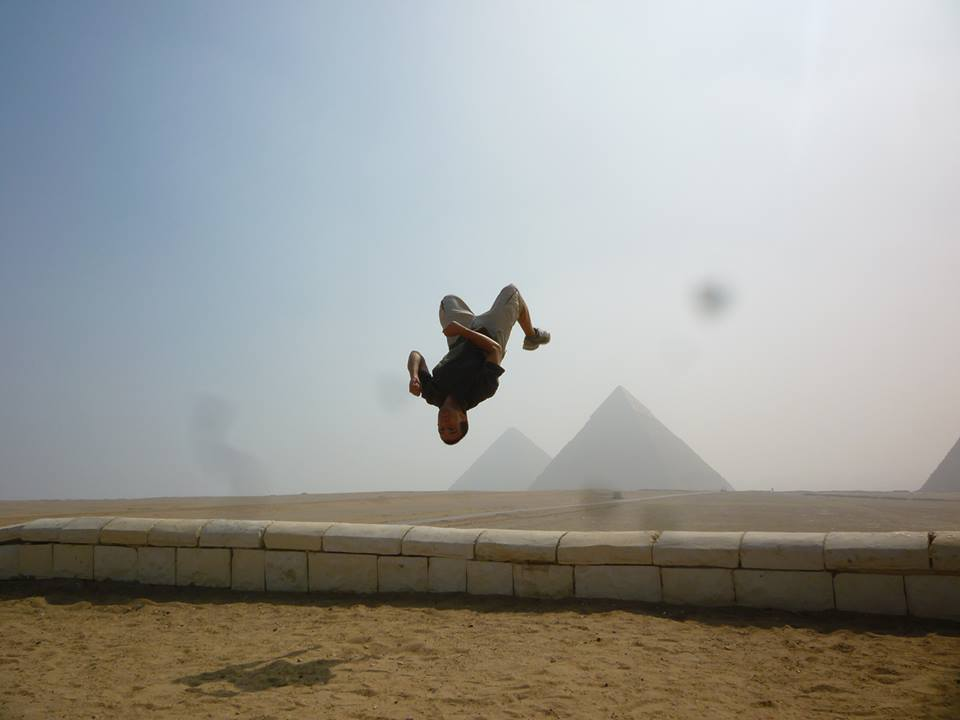 Looking forward to more than back flipping over pyramids, but living, teaching and performing in them!