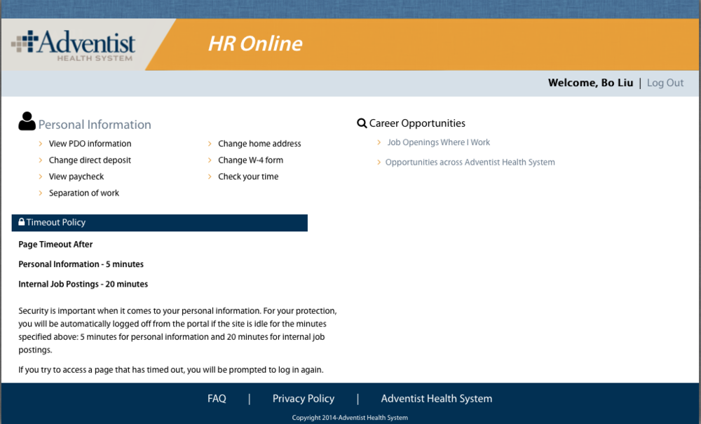 FLORIDA HOSPITAL HR PORTAL (View your paycheck, direct deposit, tax forms etc.)