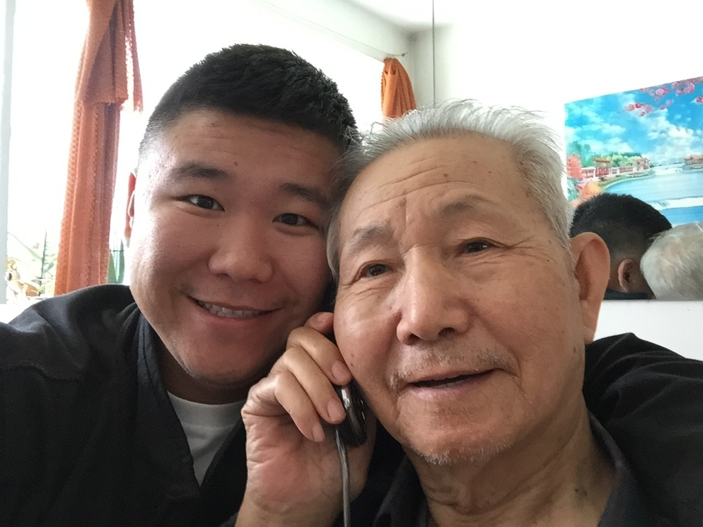 Me and the older Dr. Liu  - my 85 year old grandfather.