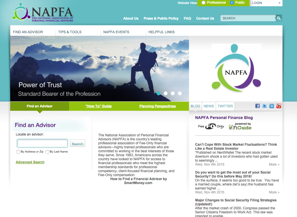 The National Association of Professional Financial Advisors (NAPFA)