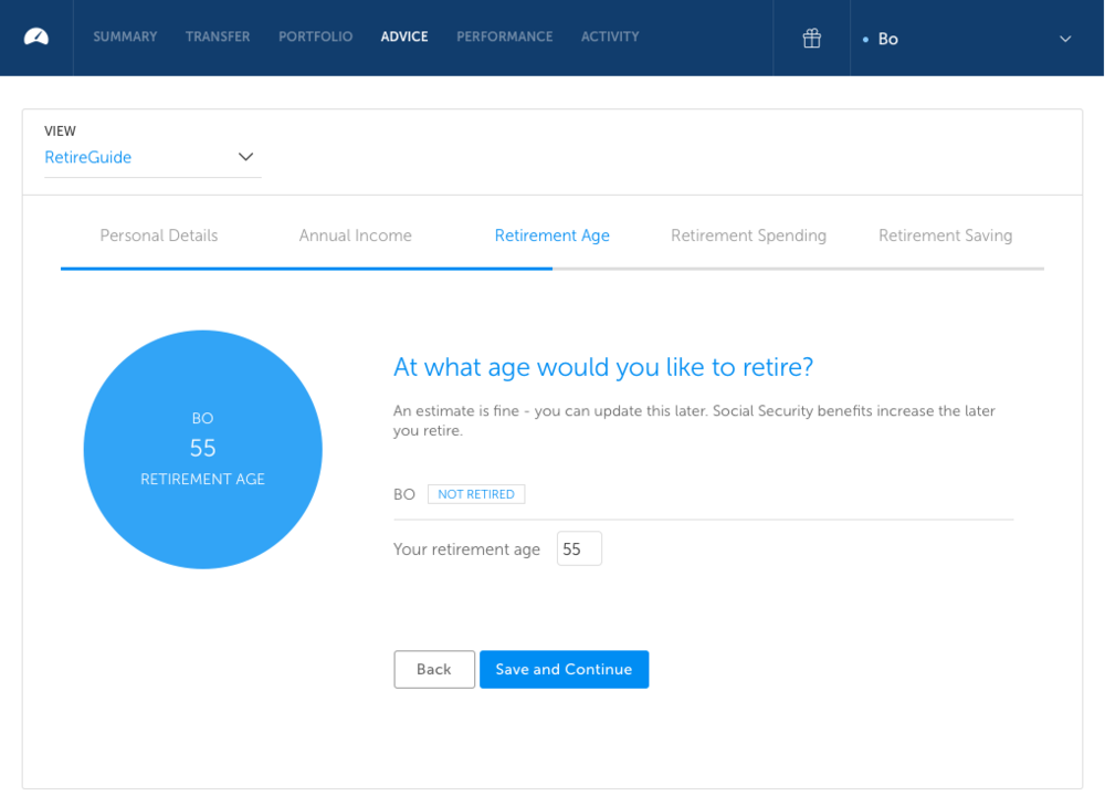 Betterment RetireGuide