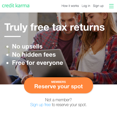 Deal free tax filing from credit karma future proof md free tax return prepare file taxes online credit karma taxg ccuart Image collections