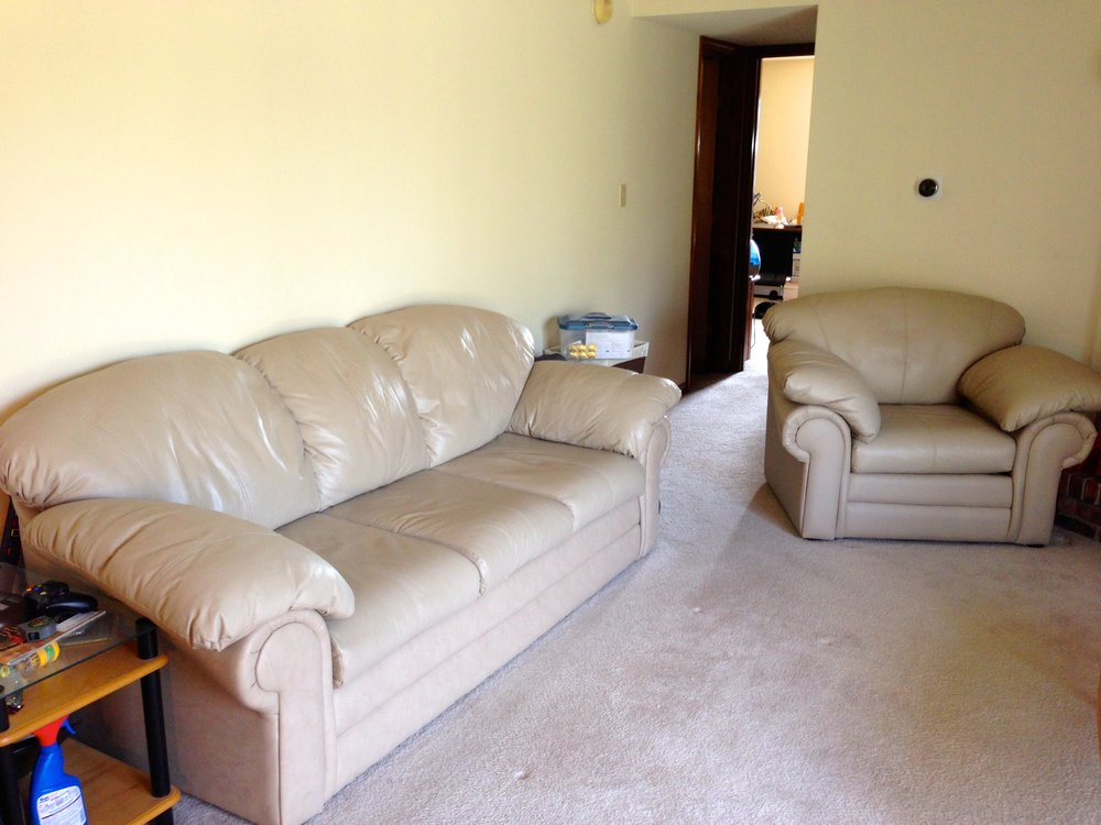 Couches bought for $350, sold for $450 five years later.
