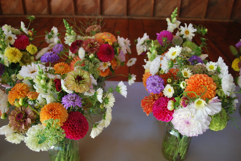 August table bouquets.