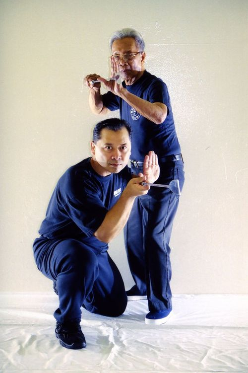 Left to right: Grandmaster Tony Somera & Grandmaster Leo Giron