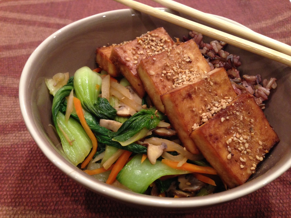 Ginger and Tamari Marinated Baked Tofu