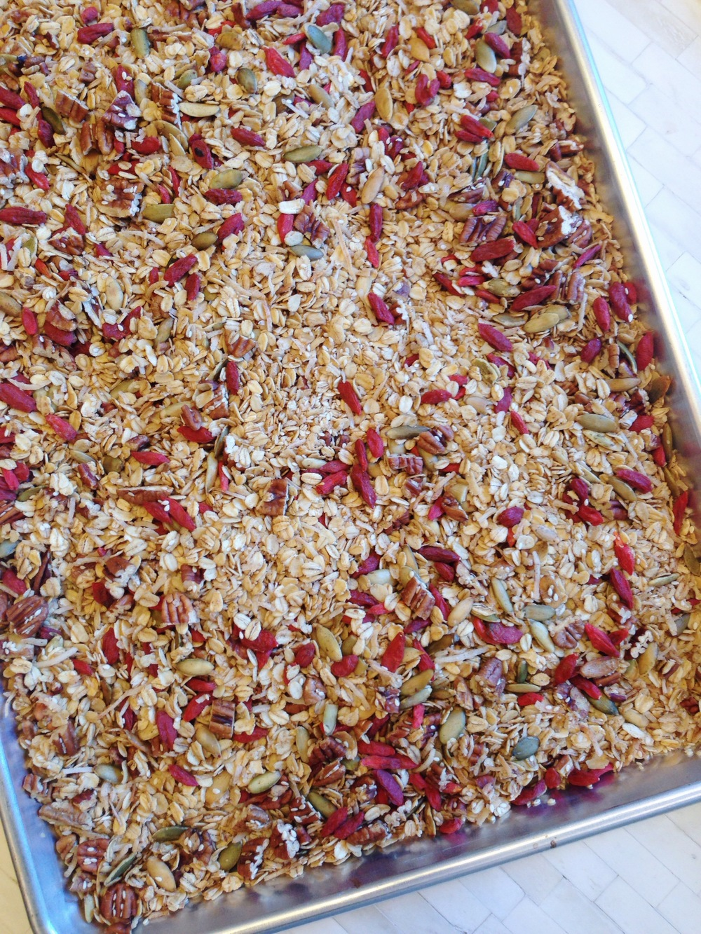Spiced Granola with Goji Berries - Carly's Wellness Kitchen