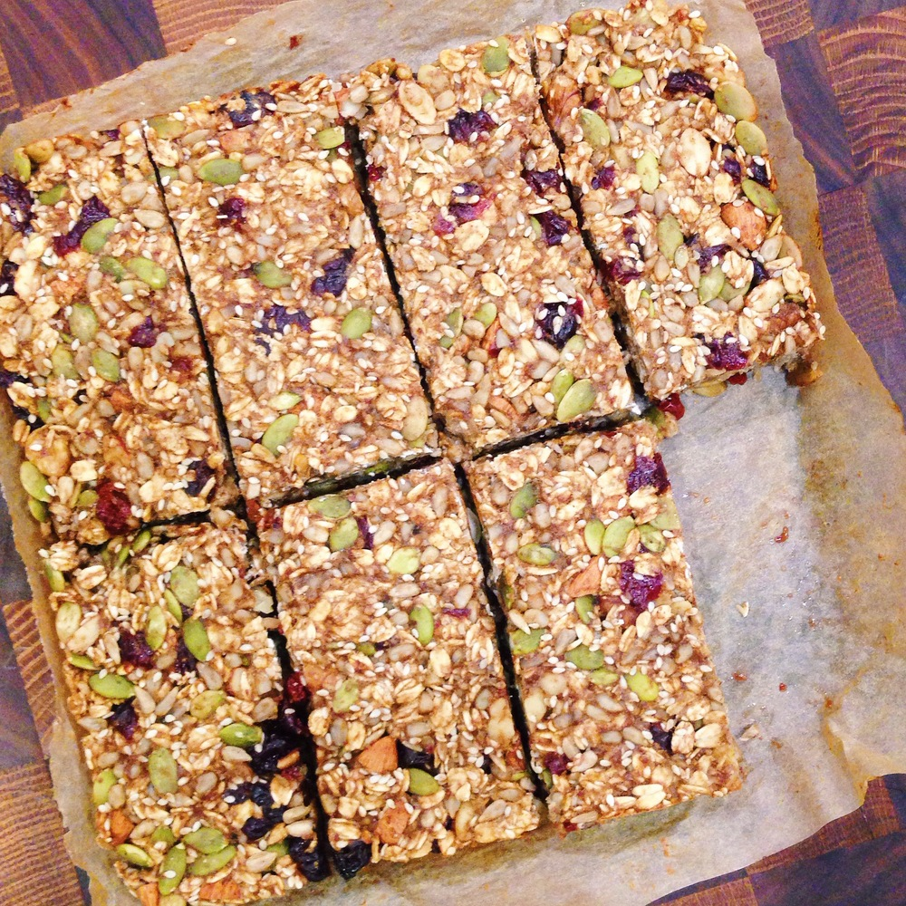 Nut and Seed Banana Oat Bars