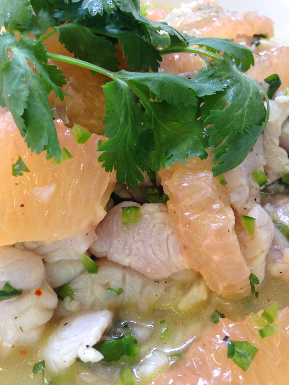 Spanish mackerel ceviche with grapefruit
