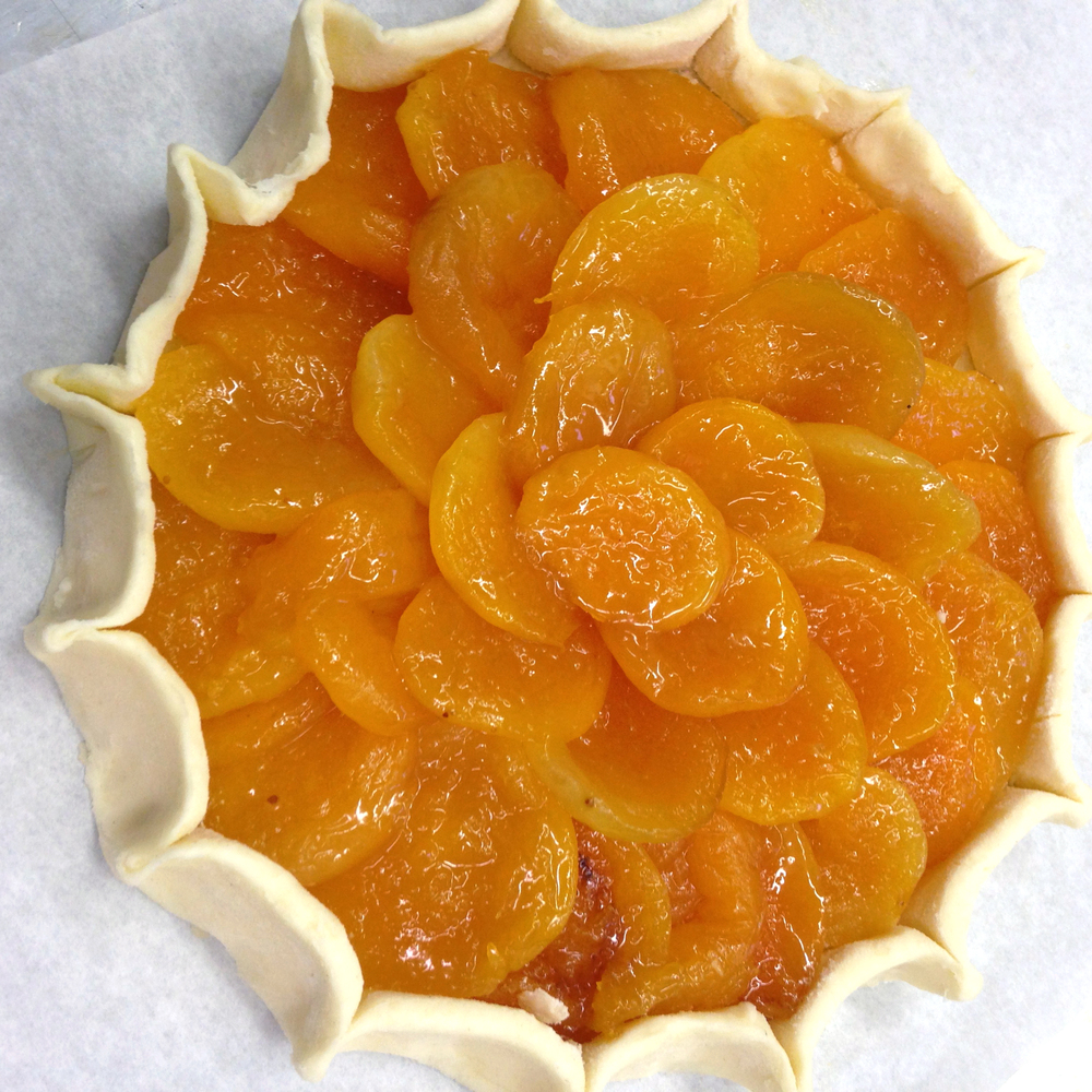 The apricot tart before it went into the oven