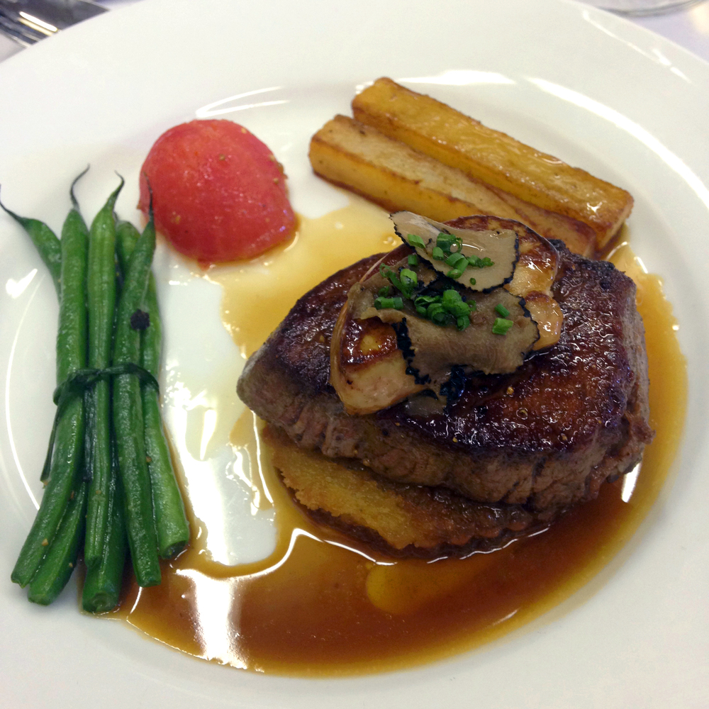 Fifth course, le grand tournedos rossini - medallions of beef filet with fois gras