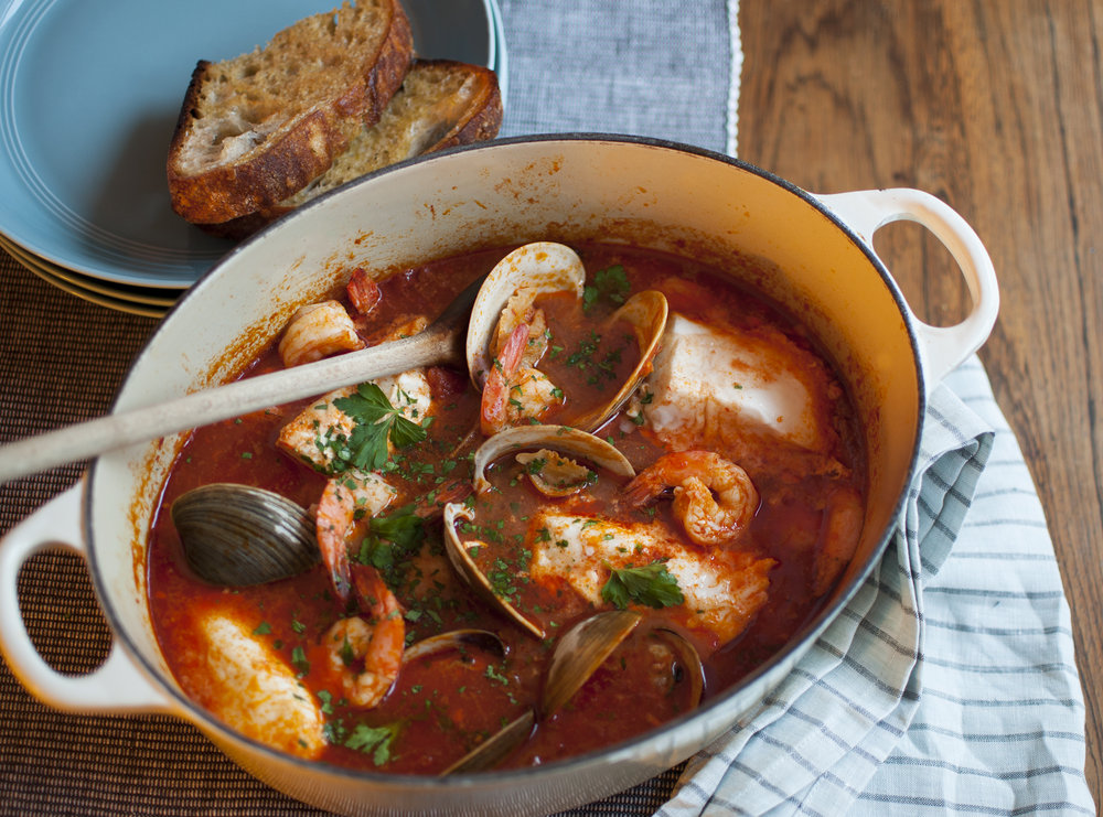 My cioppino as published in The Boston Globe
