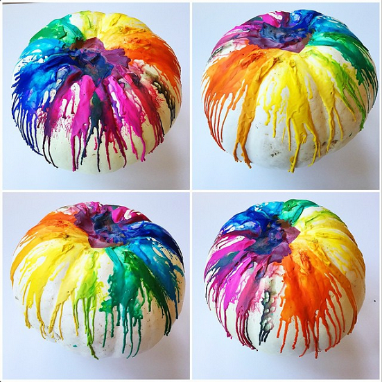 Melted crayons via Crafty Morning