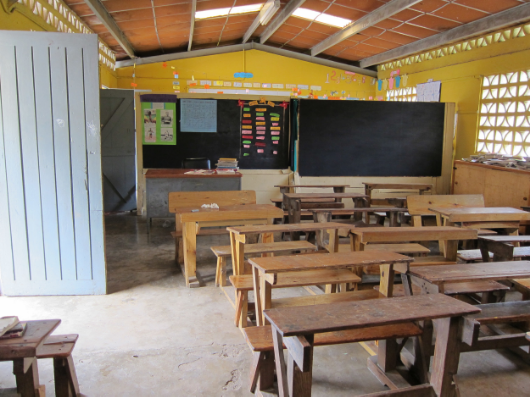 Open-air classroom in the school where I volunteered