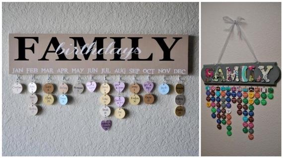 DIY Family Birthday Calender
