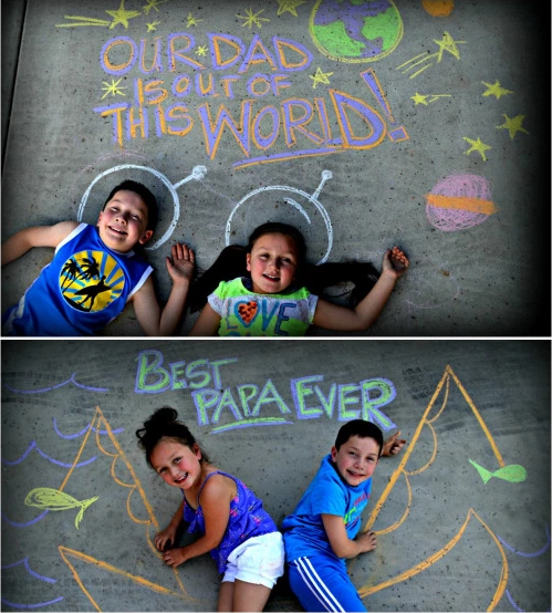 From: http://hip2save.com/2015/06/03/sidewalk-chalk-photo-ideas-for-fathers-day/