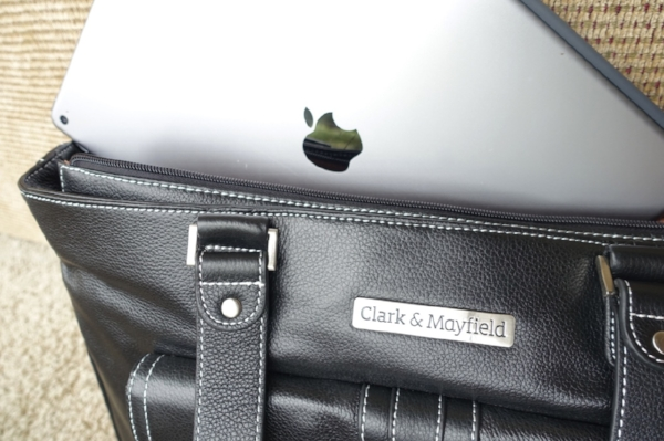 iPad Pro pictured with Clark & Mayfield  Stafford Leather Pro handbag