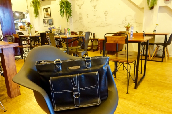 The Stafford Pro bag at Craft Cafe, a trendy breakfast spot in Bangkok