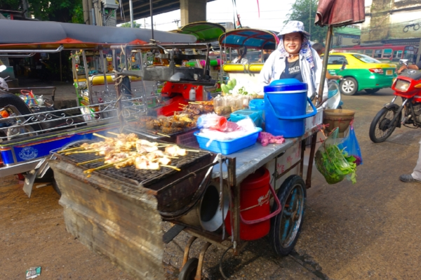 Bangkok is full of markets, street food, and mobile restaurants on carts