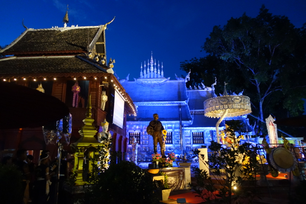 The silver wat in Chiang Mai