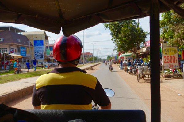 Tuk tuk driver on the streets of Siem Reap
