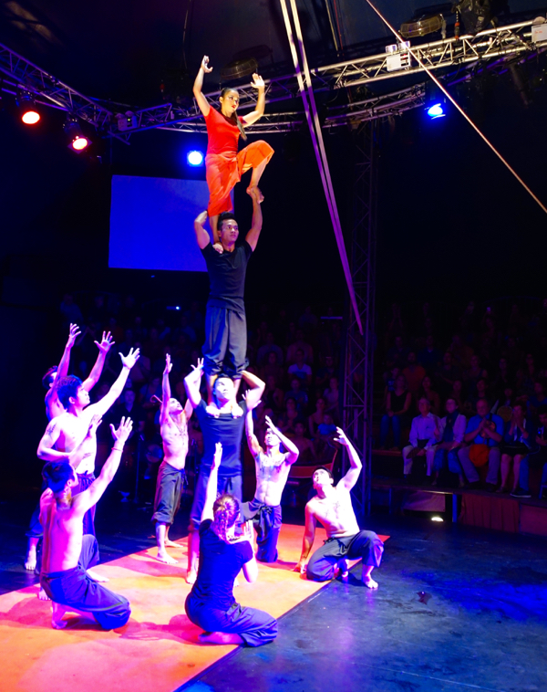 """Phare"" the Cambodian circus in Siem Reap features former street performers"
