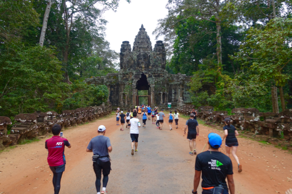 Angkor Wat Half Marathon through a UNESCO World Heritage site