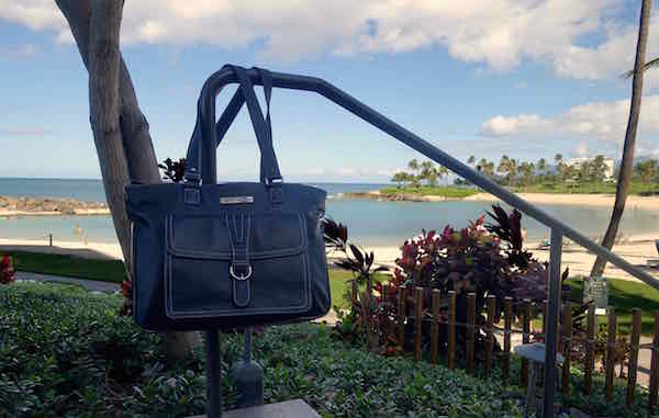 Clark & Mayfield Stafford Pro handbag outside the Marriott Ko'Olina Beach Club