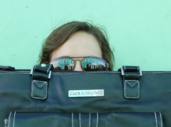 The author with her C&M Stafford laptop bag