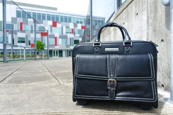 Stafford Pro rolling laptop bag in black