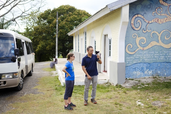 Jedd and Michelle documenting a service project in Jamaica. Photo credit: Ben Schaefer, Silver & Salt Photography/Dreamspace Collective