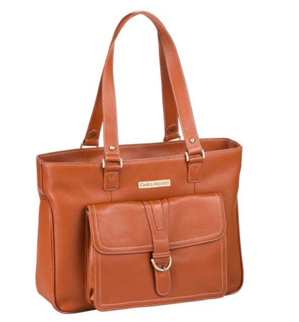 "Shop Stafford Pro leather laptop handbag: 15.6"" or 17.3"""
