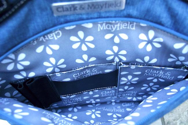 Reed handbag from purse pockets
