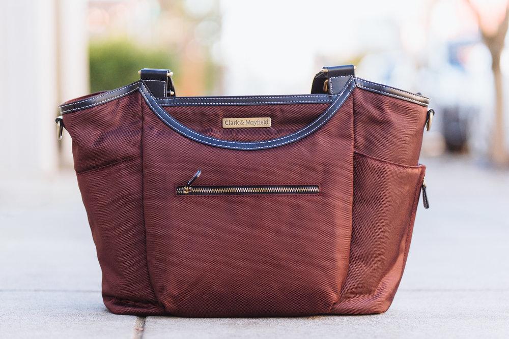 "Shop now: 18"" Bellevue laptop handbag in Bordeaux Brown"