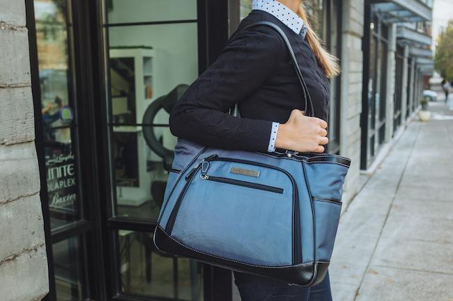 ClarkMayfield Sellwood laptop handbag for women in blue