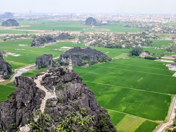 View from the Mua Cave overlook in Ninh Binh
