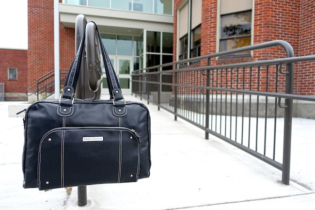 "Morrison Leather Laptop Handbag 18.4"" (Black)"