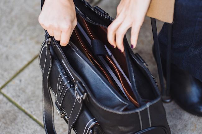 Stafford Pro Leather Laptop H  andbag (black)