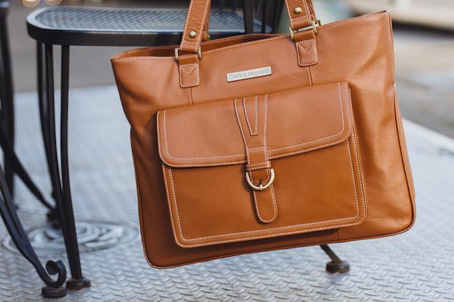 Stafford Pro Leather Laptop Handbag (camel)