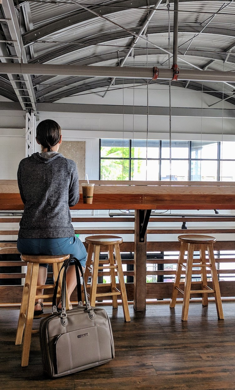 Coffee break in the loft of a warehouse-turned-cafe called Morning Brew